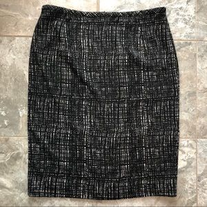 Calvin Klein Black Gray Knit Pencil Skirt 8